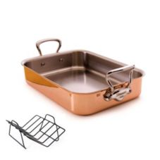 Mauviel 6017.40 M'Heritage Copper Tri-Ply Roaster with Rack