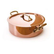 Mauviel 6506.24 M'Heritage 3.3 Qt. Rondeau Pan with Bronze Handles