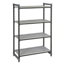 "Cambro ESU244872580 Brushed Graphite 72"" (4) Shelf Starter Units"