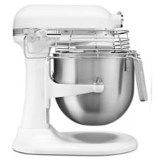 KitchenAid® KSMC895WH White 8 Qt. Lift Stand Mixer with Bowl Guard