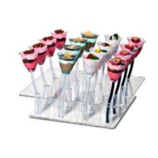 Rosseto® BTC616 Liteware Acrylic 16-Hole Blossom Cup and Stem Tray