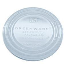 Fabri-Kal 9509321 Greenware Lid for 2 Oz Clear Portion Cup - 2000 / CS