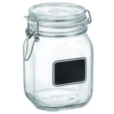 Bormioli Rocco 4949Q463 Fido 37.75 Oz. Chalkboard Jar - 12 / CS