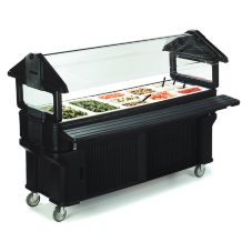 Six Star Portable Food Bar, Black, 6 Ft