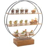 Oneida® WS5000 Bamboo 3 Shelf Circular Display