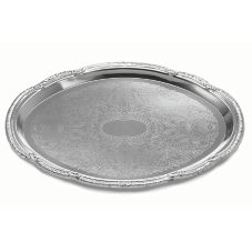 "TableCraft® CT1813 Chrome Plated Oval 18 x 13"" Serving Tray"