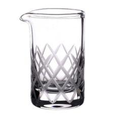 Rona 4810R119 Mixing Beaker with Grey Diamond Cuts - 12 / CS
