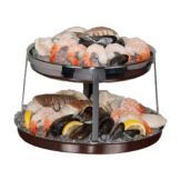 Steelite 5850JX01 Williamsburg Metal 2-Tier Seafood Stand Set