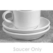 "Diversified Ceramics DC138-W White 5-3/4"" Cappuccino Saucer - 24 / CS"