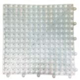 "Spill-Stop 162-00 Clear Tile / Shelf Liner 12"" x 12"" Bar Mat"