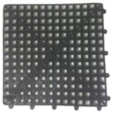 "Spill-Stop 162-02 Black Tile / Shelf Liner 12"" x 12"" Bar Mat"