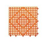 "Spill-Stop 162-06 Orange Tile/Shelf Liner 12"" x 12"" Bar Mat"