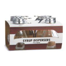 TableCraft C414-4 Teardrop 14 Oz Syrup Dispenser - 4 / PK