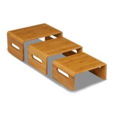 Rosseto® SB101 Natural Finish Rectangular Bamboo Risers - Set