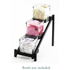 Cal-Mil 1149-13 One by One Glass Jar Display with Black Base