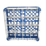 "Vollrath 5271877 Blue 5-5/8"" Tall 16 Compartment Glass Rack"