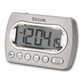 Taylor Precision 5847-21 Chrome Digital Timer with Clock & Memory