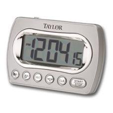 Taylor® Precision 5847-21 Digital Chrome Timer w/ Memory And Clock