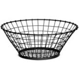 "Tablecraft Products GM15 Black 15"" x 5"" Grand Master Basket - 4 / CS"