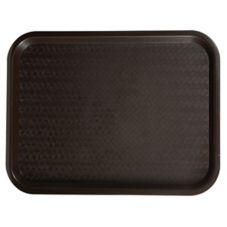 "Winco® FFT-1418B 14 x 18"" Brown Fast Food Tray - 12 / PK"