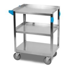 Carlisle UC3031524 S/S 300 Lb. Rolling Cart with 3 Shelves