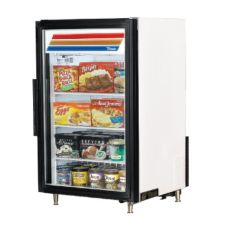 True® GDM-7F-LD Black Countertop Freezer with Plain White Sign
