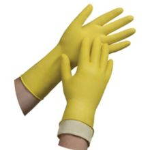 Tradex International L6500-L Large Yellow Latex Glove - 144 / CS