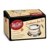 Tablecraft Products H357 6 Oz. Condiment Jar Set with S/S Lid