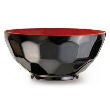 G.E.T.® RB-122-RB Fuji Red / Black 11 Oz Cereal Bowl - Dozen