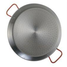 """Matfer Bourgeat 071041 Guison Polished Steel 15-3/4"""" Paella Pan"""