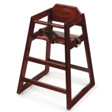 G.E.T. Enterprises HC-100-M-2-P Mahogany Hard Wood High Chair