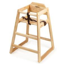 G.E.T. Enterprises HC-100-N-2-P Natural Hard Wood High Chair