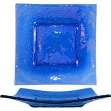Int'l Tableware IGPB-1175 Artic Glacier Blue Sq. Flared Plate- 12 / CS
