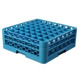 Carlisle RG49-214 Blue 49 Compartment Glass Rack with 2 Extenders