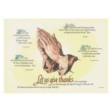 Hoffmaster 702023 Four Faiths Placemat - 1000 / CS