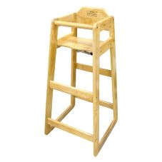 "Winco® CHH-601 Wooden 19 x 20 x 41"" Pub Height High Chair"