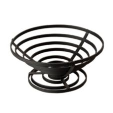 "American Metalcraft FCD3 8.5"" Flat Coil Wrought Iron Cone Basket"