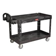 Rubbermaid® FG454600BLA 2-Shelf Heavy Duty Utility Cart