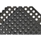 "NoTrax 550S0033BL T56 Black 3' x 3' x 3/4"" Ultra Mat Max Floor Mat"