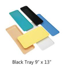 "Cambro 913MT110 Black 9"" x 13"" Market Tray"
