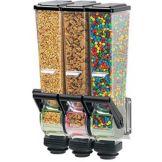 Server 88823 Triple Slimline 1/2 Oz. Dry Food Dispenser w/Wall Bracket