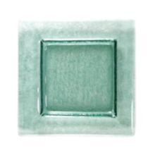 "Turgla 02-031-15TGRN Transparent Green 6"" Square Glass Plate - 12 / CS"