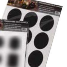 American Metalcraft CSO18 Oval Chalkboard Stickers - 2 / PK