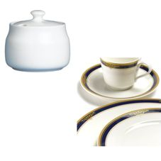 Steelite 42034325 Gold Pia Blue 7-3/4 Oz Sugar Bowl - 6 / CS