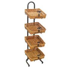 Mobile Merchandisers K1430/4B14 4-Tier Floor Display with Baskets