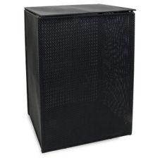 FOH RHA003BKV20 Black 12.5 x 16.5 x 22 Basketweave Hamper -2 / CS