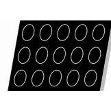 Matfer Bourgeat 336382 Flexipan® 15 Cavity Ovals Mold