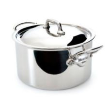 Mauviel 5231.21 M'Cook Stainless Steel 3.6 Qt. Stew Pot With Lid