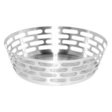 """Service Ideas™ SB-64 Stainless Steel 9"""" Round Bread Basket"""