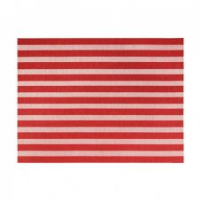FOH XPM109RDV83 Metroweave Coral Nautical 16 x 12 Placemat - 12 / CS